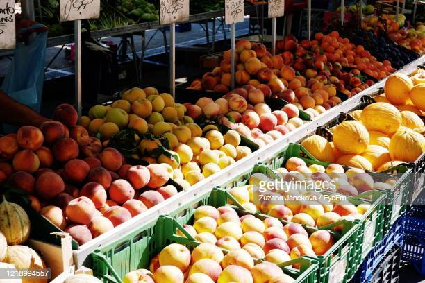fruits for sale at market stall - abundance stock pictures, royalty-free photos & images