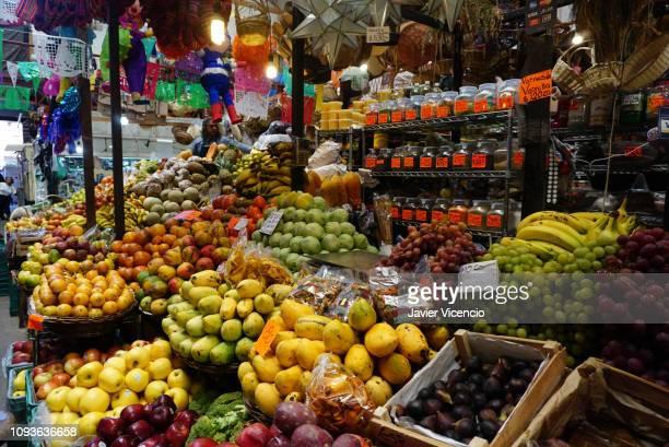 Fruits for Sale Inside the Hidalgo Market in Guanajuato