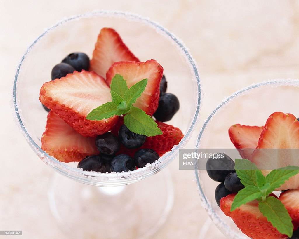 Fruits in a cup : Stock Photo