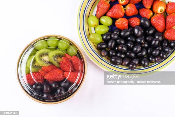 fruits in a platter - bon fire stock photos and pictures