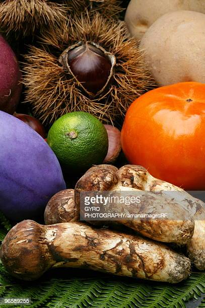 Fruits, nuts, and vegetables