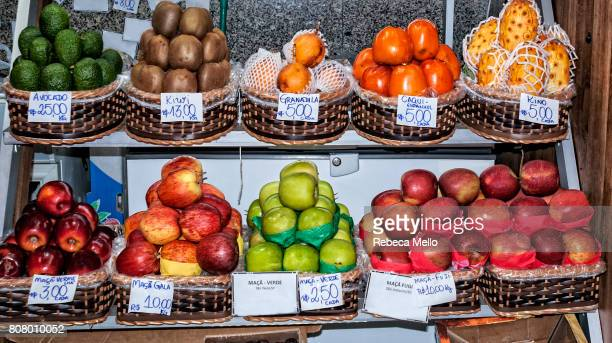 Fruits  on display