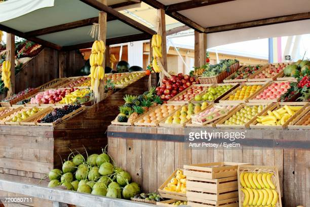 Fruits On Market Stall For Sale