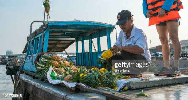 Fruits selling on a boat