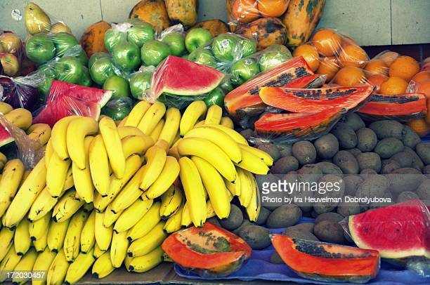 Fruits sold at floating market, Curacao