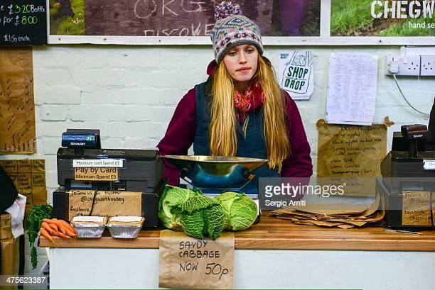 Fruits veg seller at Borough Market