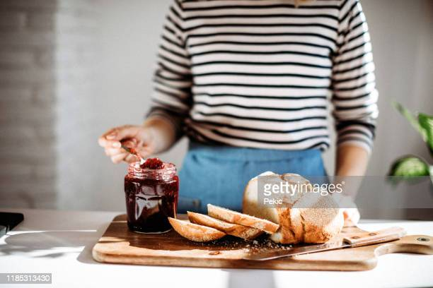 fruity treat for breakfast - preserves stock pictures, royalty-free photos & images