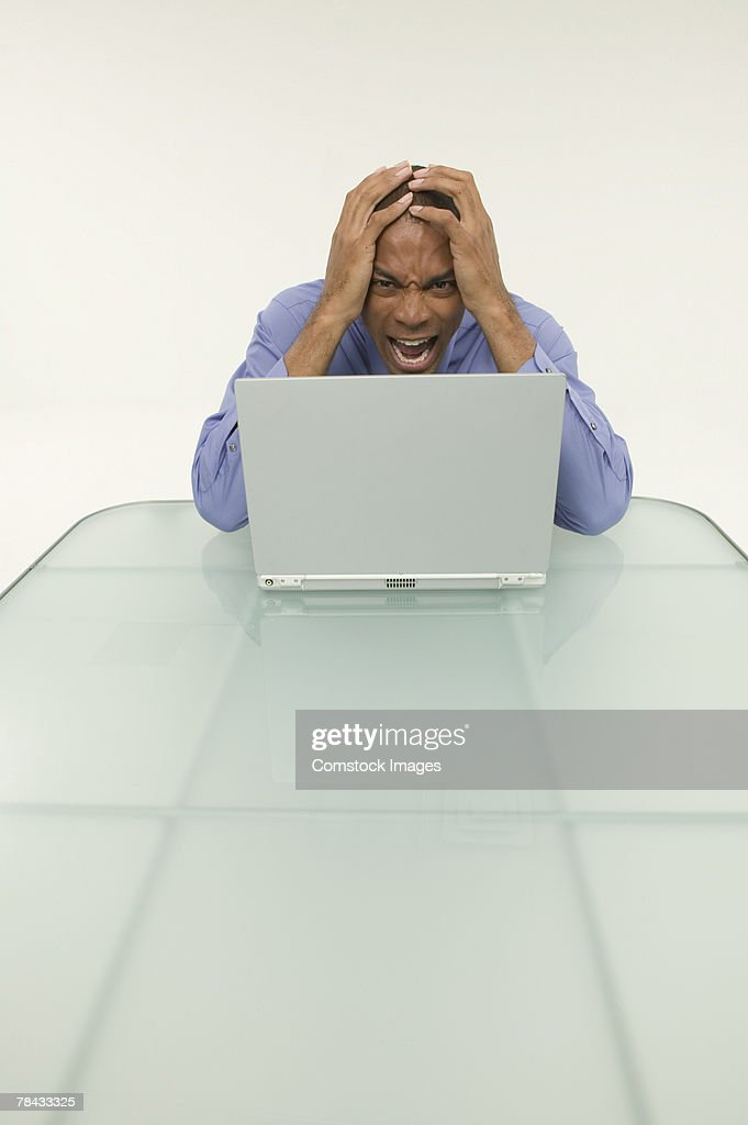Frustrated businessman : Stockfoto