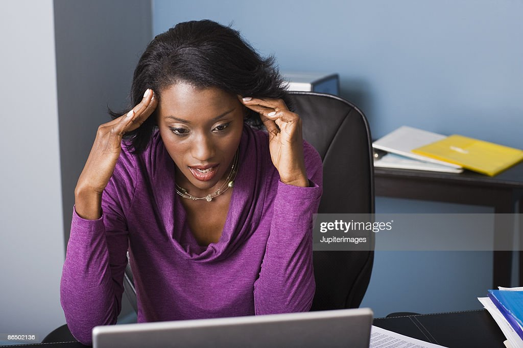 Frustrated businesswoman : Stock Photo