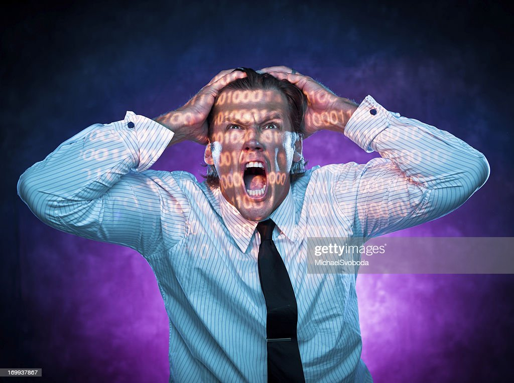 Frustrated Computer Programmer : Stock Photo