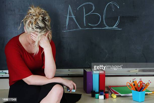 Frustrated elementary teacher