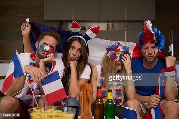 frustré france les ventilateurs de football - french football photos et images de collection