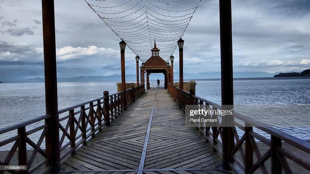 Frutillar Pier : Stock Photo