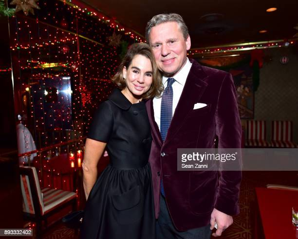 Fruzsina Keehn and Scott Nelson attend A Christmas Cheer Holiday Party 2017 Hosted by George Farias and Anne and Jay McInerney at The Doubles Club on...