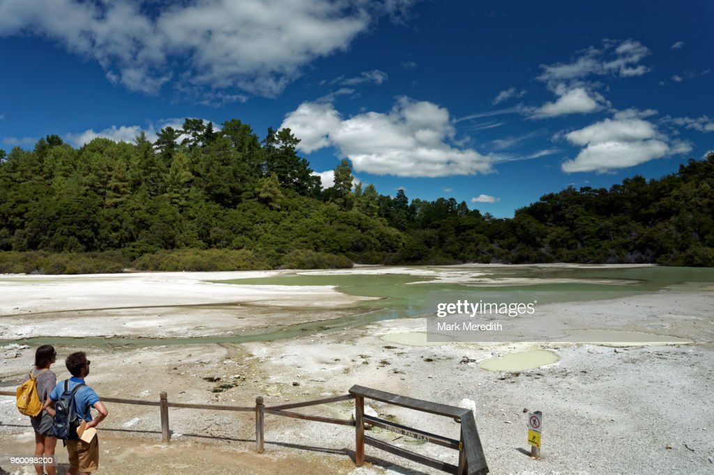 Frying Pan Flat at Wai-O-Tapu Thermal Wonderland : Stock-Foto