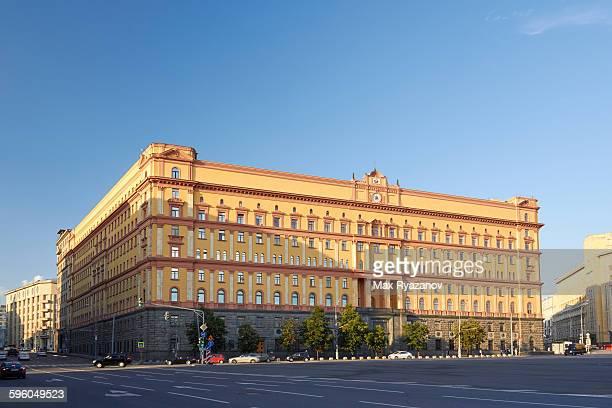 fsb,former kgb headquarters, lubyanka square - sede da kgb imagens e fotografias de stock