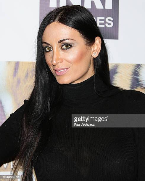 Fshion Model Regina Salpagarova attends the Los Angeles premiere of 'Give Me Shelter' at West Hollywood City Hall on February 24 2015 in West...