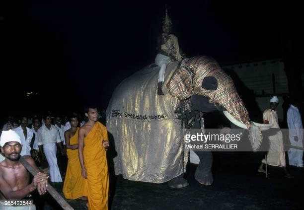 Fête de Vesak Poya à Kandy au Sri Lanka