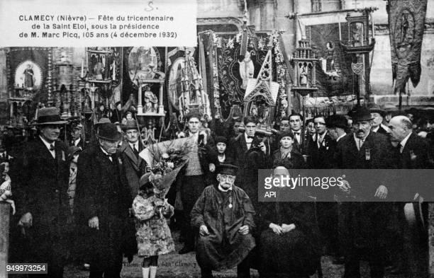 Fête du tricentenaire de la Saint Eloi sous la présidence de monsieur Marc Picq le 4 décembre 1932 à Clamecy en France