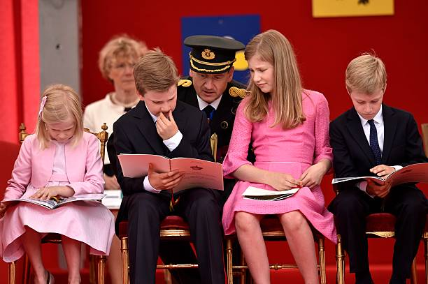 the royal family attends the military parade for national day pictures getty images. Black Bedroom Furniture Sets. Home Design Ideas