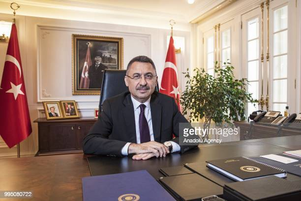 Fuat Oktay is appointed as Vice President in the new government system in Ankara, Turkey on June 21, 2018.