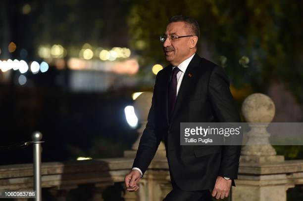 Fuat Oktay, Vice President of Turkey attends the Conference for Libya at Villa Igiea on November 12, 2018 in Palermo, Italy. Heads of State,...