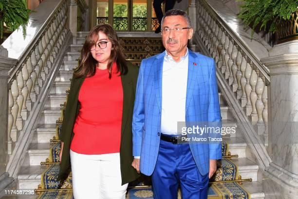"Fuat Oktay Vice President of Turkeyand his daughter Fatma Zehra Oktay attend the Ambrosetti International Economic Forum 2019 ""Lo scenario..."