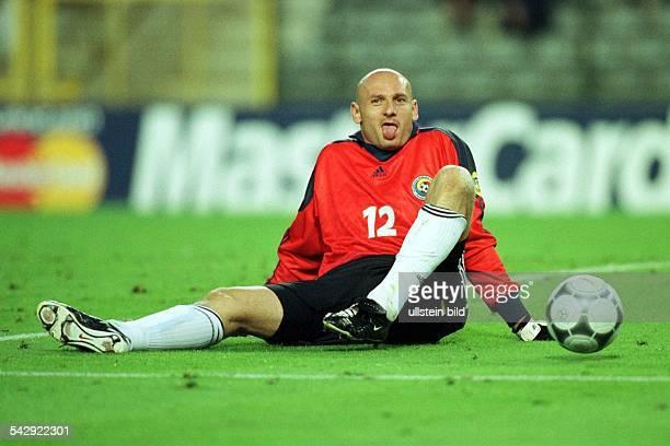 FußballEuropameisterschaft EURO 2000 Niederlande und Belgien Viertelfinale Italien Rumänien Bogdan Stelea Torwart der rumänischen Nationalmannschaft...