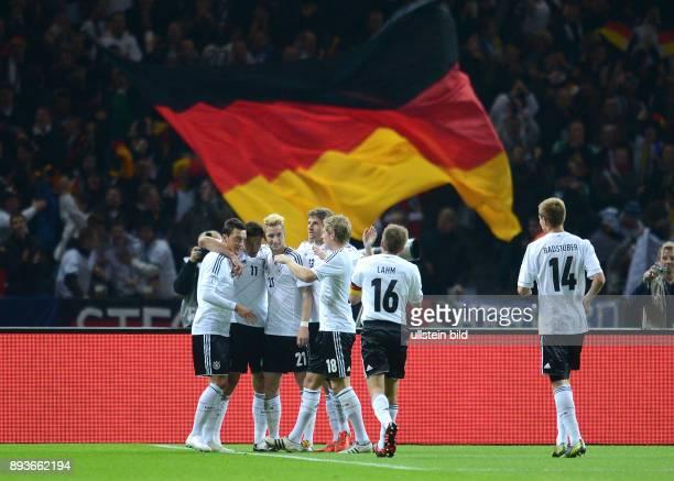 FIFA FußballWeltmeisterschaft Brasilien 2014 Qualifikation Gruppe C Fussball International WM Qualifikation 2014 Deutschland Schweden Jubel nach dem...