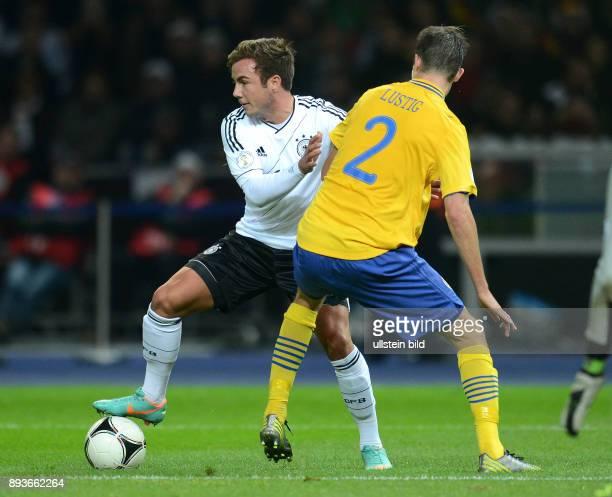 FIFA FußballWeltmeisterschaft Brasilien 2014 Qualifikation Gruppe C Fussball International WM Qualifikation 2014 Deutschland Schweden Mario Goetze...