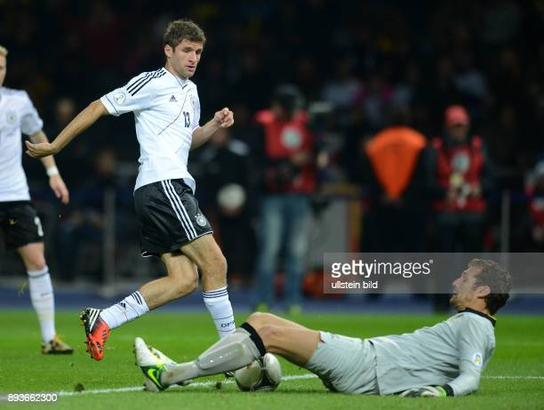 FIFA FußballWeltmeisterschaft Brasilien 2014 Qualifikation Gruppe C Fussball International WM Qualifikation 2014 Deutschland Schweden Thomas Mueller...