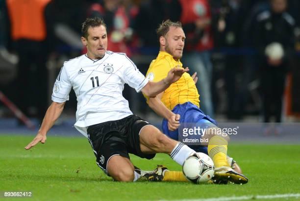FIFA FußballWeltmeisterschaft Brasilien 2014 Qualifikation Gruppe C Fussball International WM Qualifikation 2014 Deutschland Schweden Miroslav Klose...