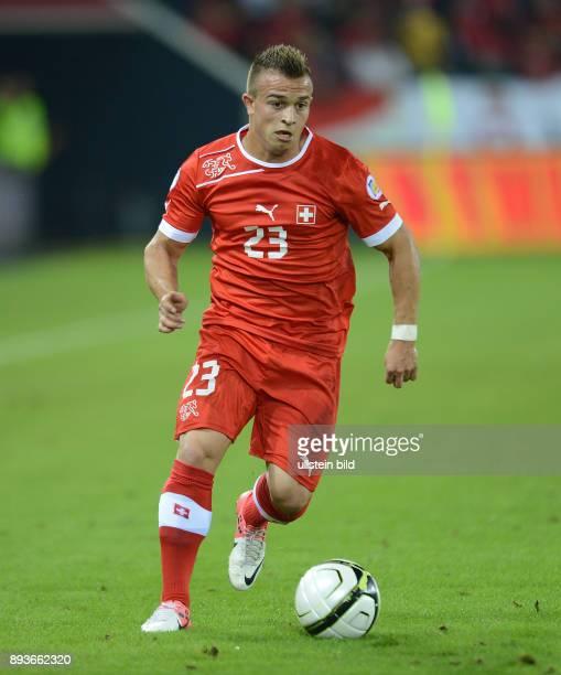 FIFA FußballWeltmeisterschaft Brasilien 2014 Qualifikation Gruppe E Fussball International WM Qualifikation 2014 Schweiz Albanien Xherdan SHAQIRI am...