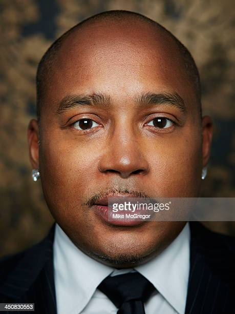 Fubu founder and branding expert Daymond John is photographed for Inc Magazine NYC on April 24 2013 in New York City
