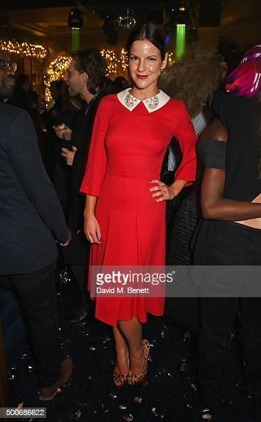 Fuchsia Sumner attends the Sunday Times Style Christmas Party at Tramp on December 9 2015 in London England