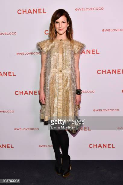 Fuchsia Sumner wearing Chanel attends a Chanel Party to celebrate the Chanel Beauty House and @WELOVECOCO at Chanel Beauty House on February 28 2018...