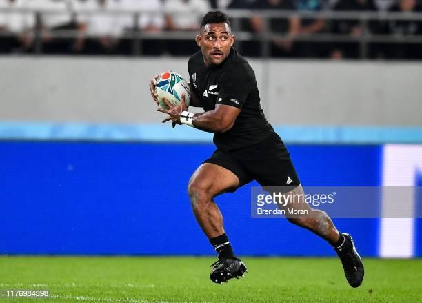 Fuchu Japan 19 October 2019 Sevu Reece of New Zealand during the 2019 Rugby World Cup QuarterFinal match between New Zealand and Ireland at the Tokyo...