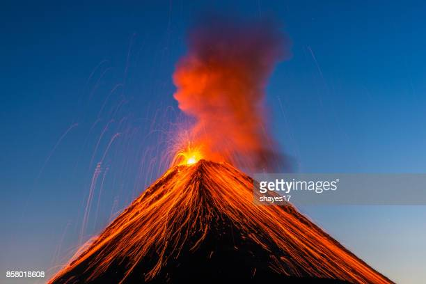 fuego volcano eruption - lava stock pictures, royalty-free photos & images