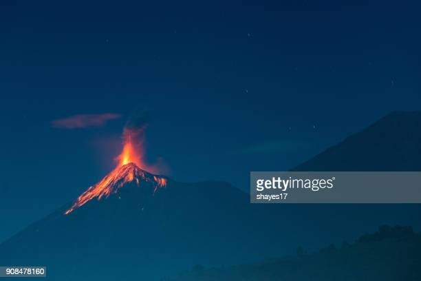 fuego volcano eruption - guatemala stock pictures, royalty-free photos & images