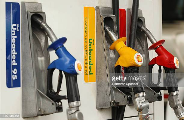 A fuel bowser is seen with different petrol types on February 29 2012 in Sydney Australia An NRMA survey of over 1300 drivers revelaed one in ten...