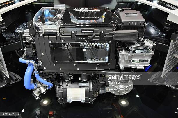 Fuel cell electric engine on the motor show