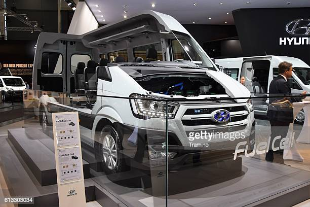 Fuel cell electric minibus on the motor show