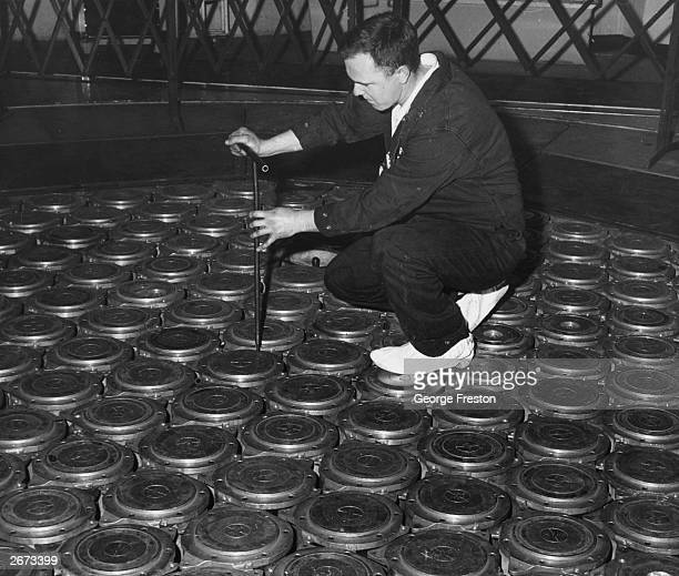 A fuel change being prepared for the advanced gas cooled reactor on the pile cap at the UK Atomic Energy Authority's nuclear station at Windscale in...