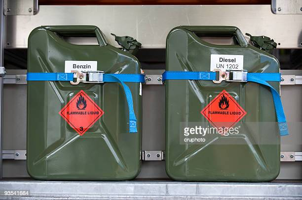 fuel container, gas can - flammable stock photos and pictures