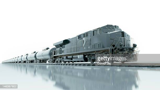 CGI of fuel freight train and locomotive