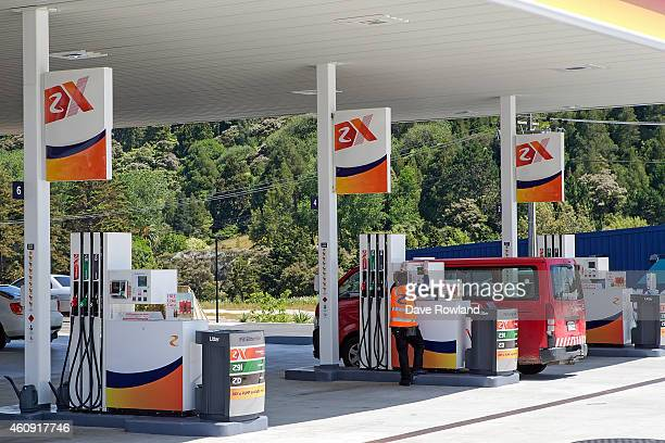 Fuel pumps at a Z Energy Service Station on December 29, 2014 in Auckland, New Zealand. The NZX 50 Index is the main stock market index in New...