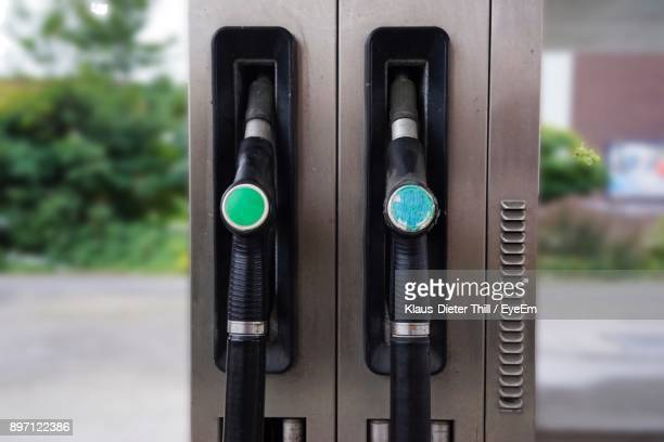 Fuel Pumps At Gas Station