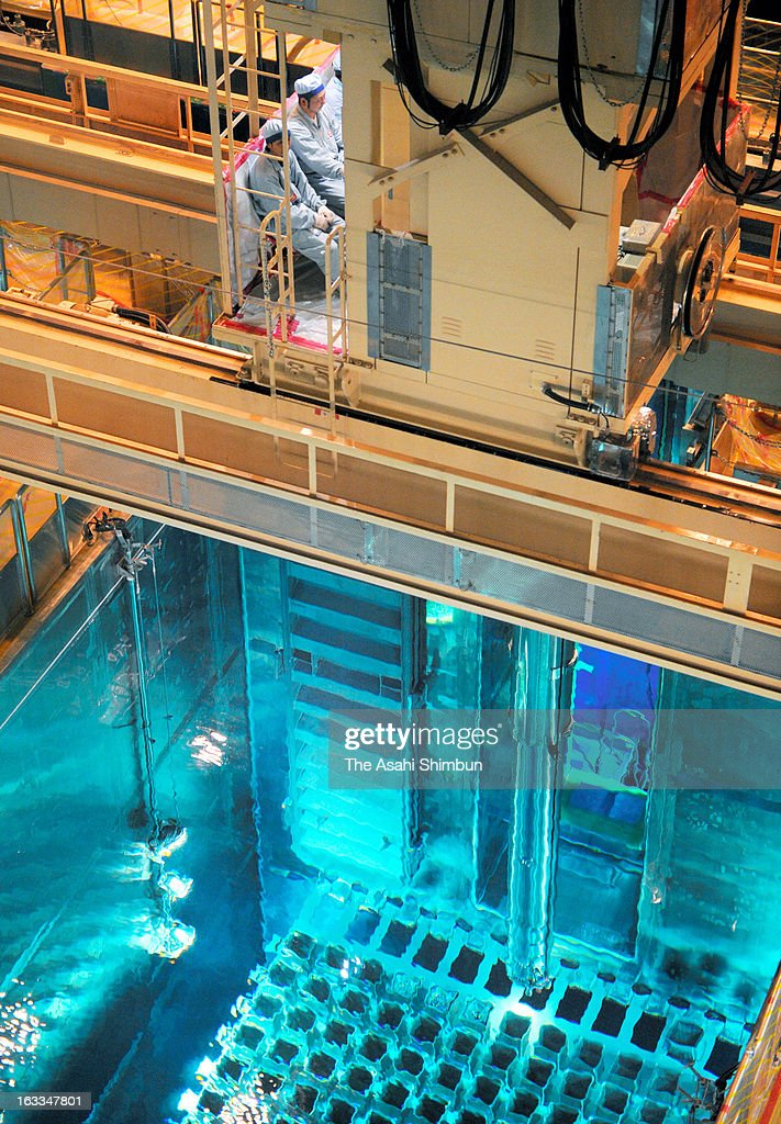 A fuel rod is removed from a reactor and preserved into a spent fuel pit at Genkai Nuclear Power Plant's No. 3 reactor, opened to the press on March 7, 2013 in Genkai, Saga, Japan. The reactor has been stopped since December 2010 for regular investigation.