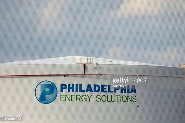 Fuel tank at the Point Breeze plant of Philadelphia Energy Solutions refinery in South Philadelphia PA on August 8 ahead of its imminent permanent...