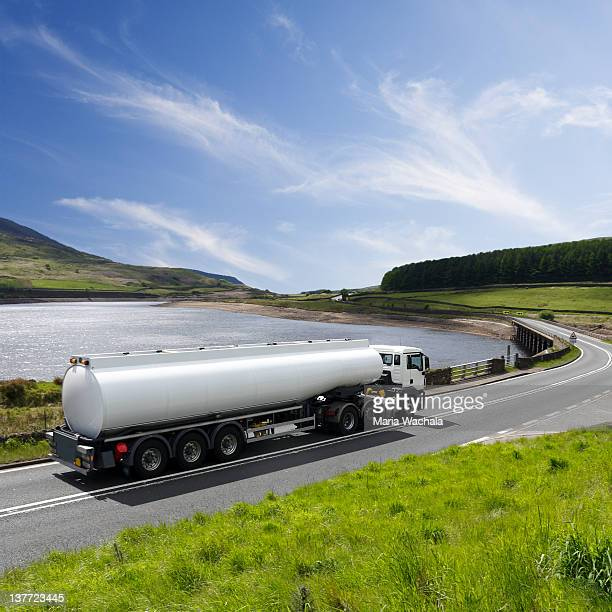 fuel tanker truck - tanker stock photos and pictures